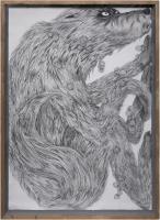 pencil on paper, framed 121 x 88 cm